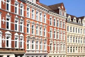 Häuserfront in Kiel