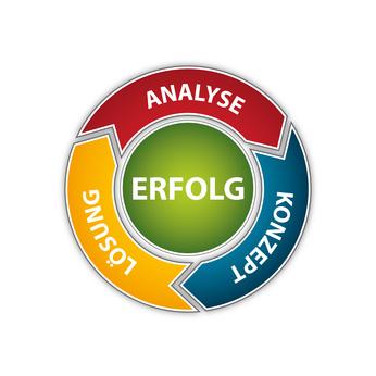 Schema - Analyse, Konzept, Lösung, Erfolg